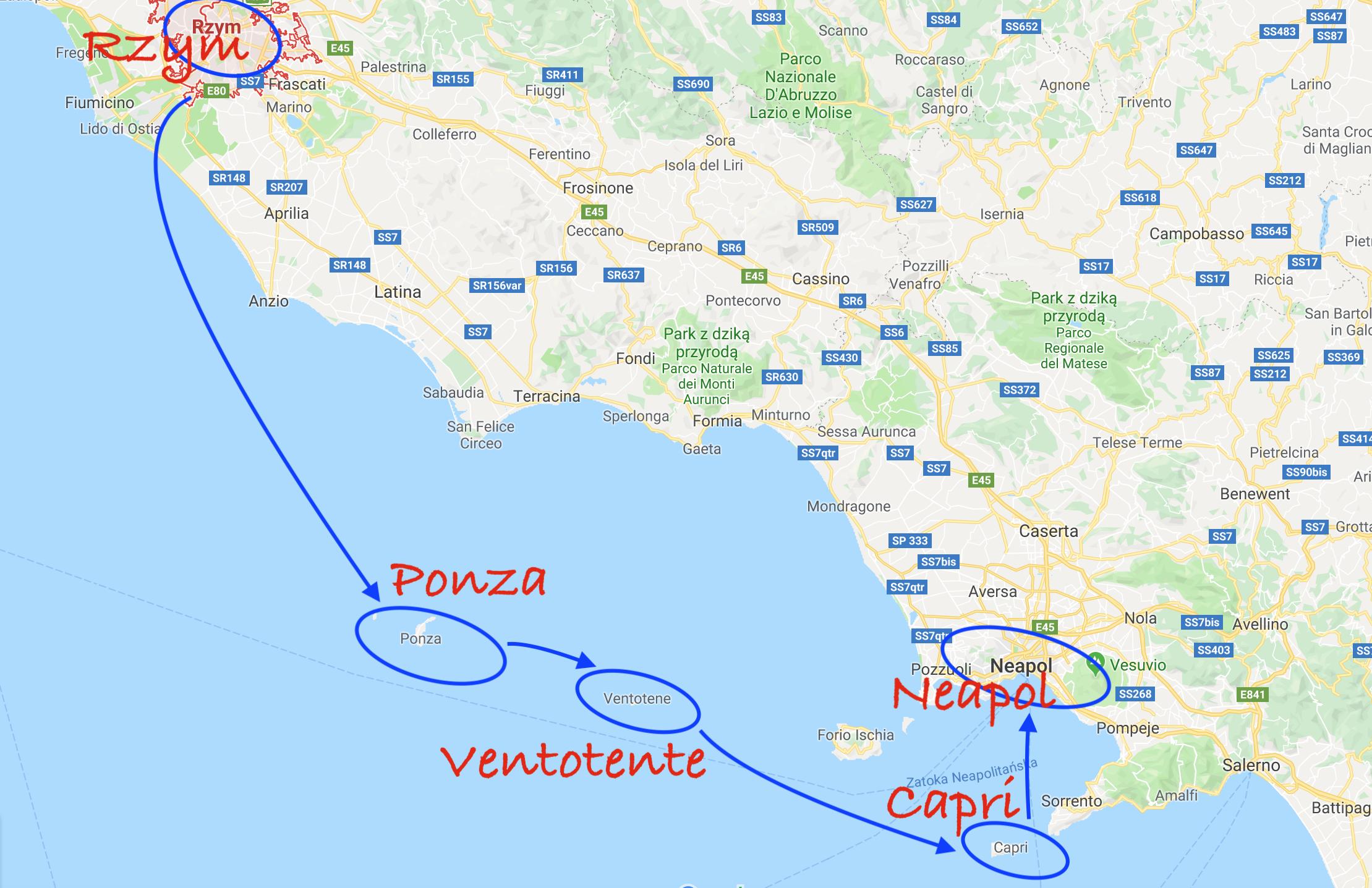 Mapa rejsu