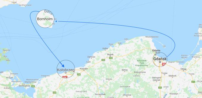 Gdańsk - Bornholm - Kołobrzeg