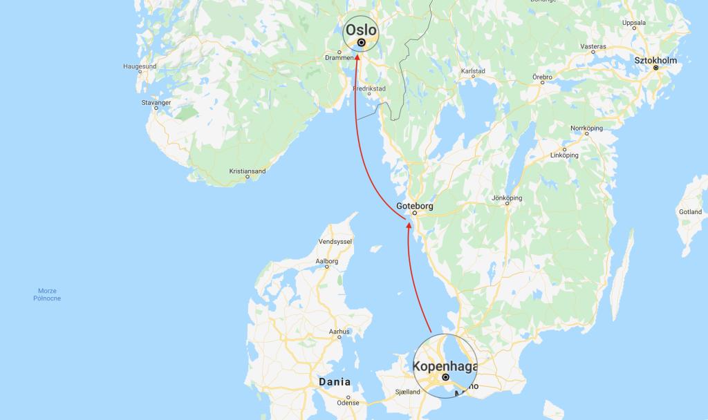Kopenhaga - Oslo